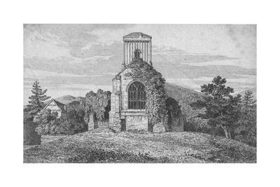 'Little Malvern Church', c1850