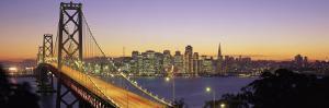 Bay Bridge at Night, San Francisco, California, USA