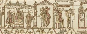 Bayeux Tapestry: at the Coronation Astrologers are Dismayed by the Appearance of Halley's Comet