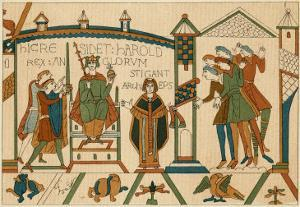 Bayeux Tapestry: Harold is Crowned King of England