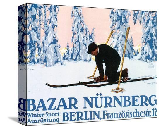Bazar Nurnberg-Carl Kunst-Stretched Canvas Print