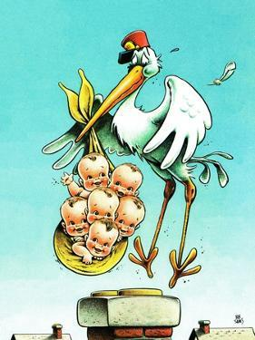 """Stork and Quints,"" April 1, 1984 by BB Sams"