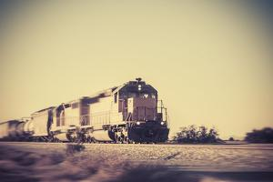 Freight Train Traveling through Arizona Desert by BCFC