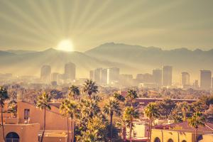 Morning Sunrise over Phoenix, Arizona, USA by BCFC