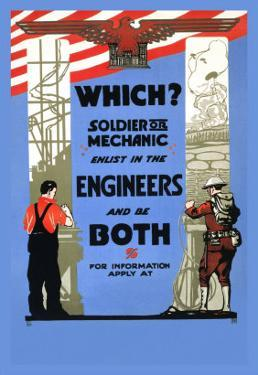 Be a Solider or a Mechanic, Join the Engineers
