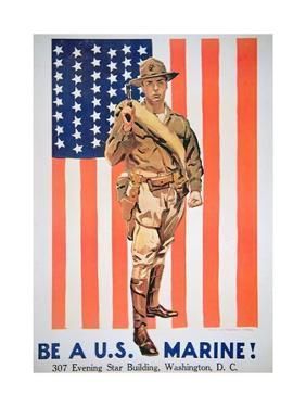 Be a Us Marine', 1st World War Poster