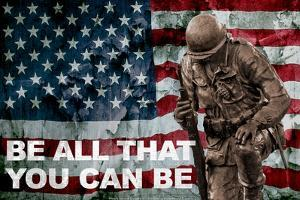 Be All You Can Be Soldier Plastic Sign