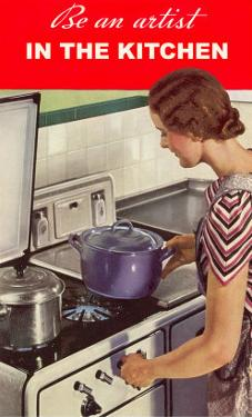 Be an Artist in the Kitchen, Woman Cooking