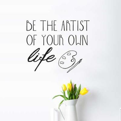 Be Artist EN Wall Decal