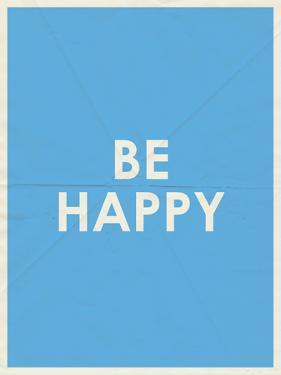 Be Happy Typography