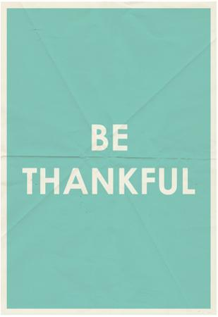 Be Thankful Typography