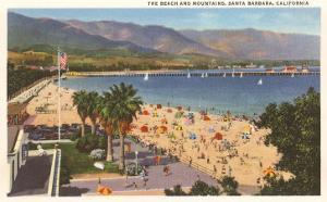 Beach and Mountains, Santa Barbara, California