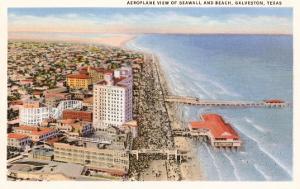 Beach and Seawall, Galveston, Texas