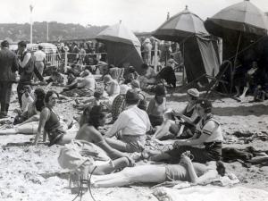 Beach at Deauville, August 15, 1930