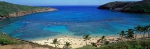 Beach at Hanauma Bay Oahu Hawaii USA