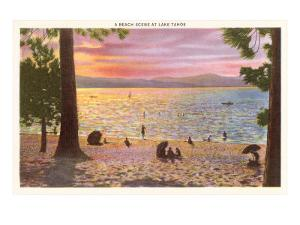 Beach at Lake Tahoe