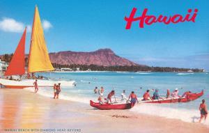 Beach at Waikiki, Hawaii