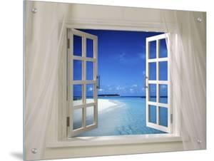 Beach Beckoning Through Open Window