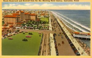 Beach Boulevard, Hotel Galvez, Galveston, Texas
