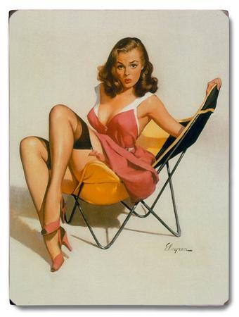 Beach Chair Pin Up Girl