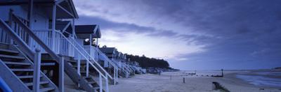 Beach Huts at Dusk, Wells Beach, Wells-Next-The-Sea, Norfolk, England