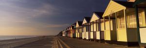 Beach Huts in a Row, Southwold, Waveney, Suffolk, England