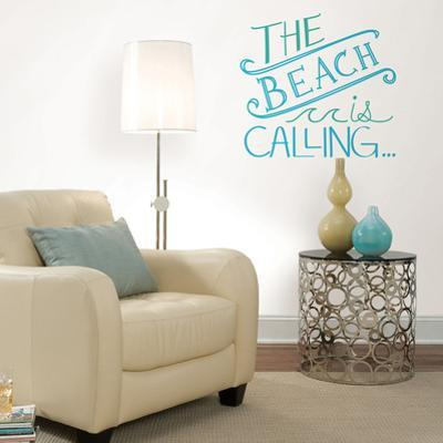 Beach is Calling Wall Quote