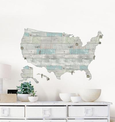 Map Wall Decals Posters at AllPosterscom