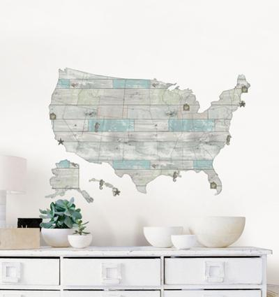 Beach Lover US Map Decal