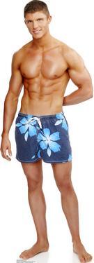 Beach Muscle Man Lifesize Standup