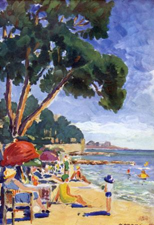 Beach Scene at Juan-Les-Pins