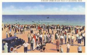 Beach Scene, Galveston, Texas