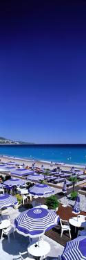 Beach Scene on French Riviera (Nice) France