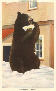 Bear with Bowl, Rainier National Park, Washington