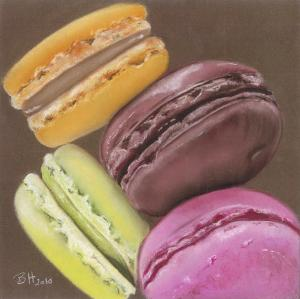 4 Macarons by Béatrice Hallier