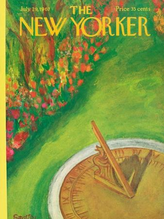 The New Yorker Cover - July 29, 1967 by Beatrice Szanton