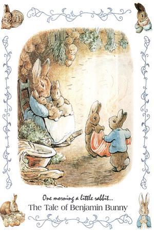 Beatrix Potter Benjamin Bunny Plastic Sign