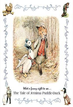 Beatrix Potter Jemima Puddle-Duck Art Print POSTER Fox