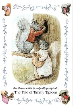 Beatrix Potter Tale of Timmy Tiptoes Art Print POSTER