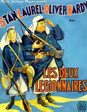 Beau Hunks, (aka Les Deux Legionnaires), French Poster Art, 1931