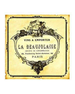 Beaujolaise Wine Label