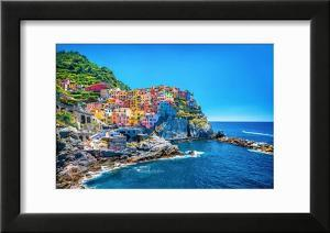 Beautiful Colorful Cityscape on the Mountains over Mediterranean Sea  Europe  Cinque Terre  Traditi