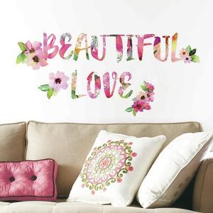 Beautiful Love Watercolor Quote Peel And Stick Wall Decals
