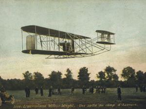 Beautiful Shot of Wilbur Wright Making a Demonstration Flight at Auvours