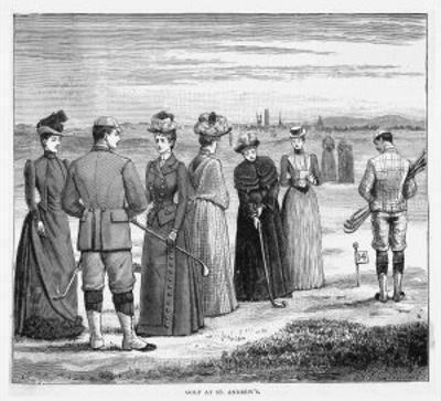 Beautifully Attired Ladies Enjoy a Game at St. Andrews Scotland
