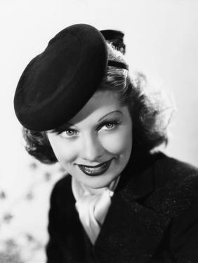 Beauty for the Asking, Lucille Ball, Modeling a Black Felt Pillbox Hat by Edward Stevenson, 1939
