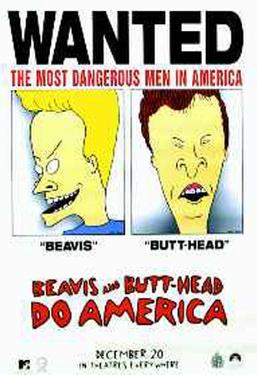 Beavis and butt head do america posters for sale at allposters beavis butthead do america voltagebd Gallery