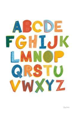 Colorful Alphabet by Becky Thorns