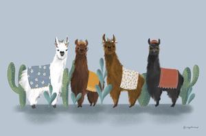 Delightful Alpacas V by Becky Thorns