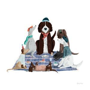 Picnic Pets Dogs I by Becky Thorns